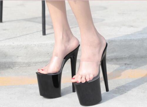 Sexy runway Tacchi spillo alti Sandali Womens a Piattaforma Nightclub Sz Clear Scarpe 1AwzS7r1xn