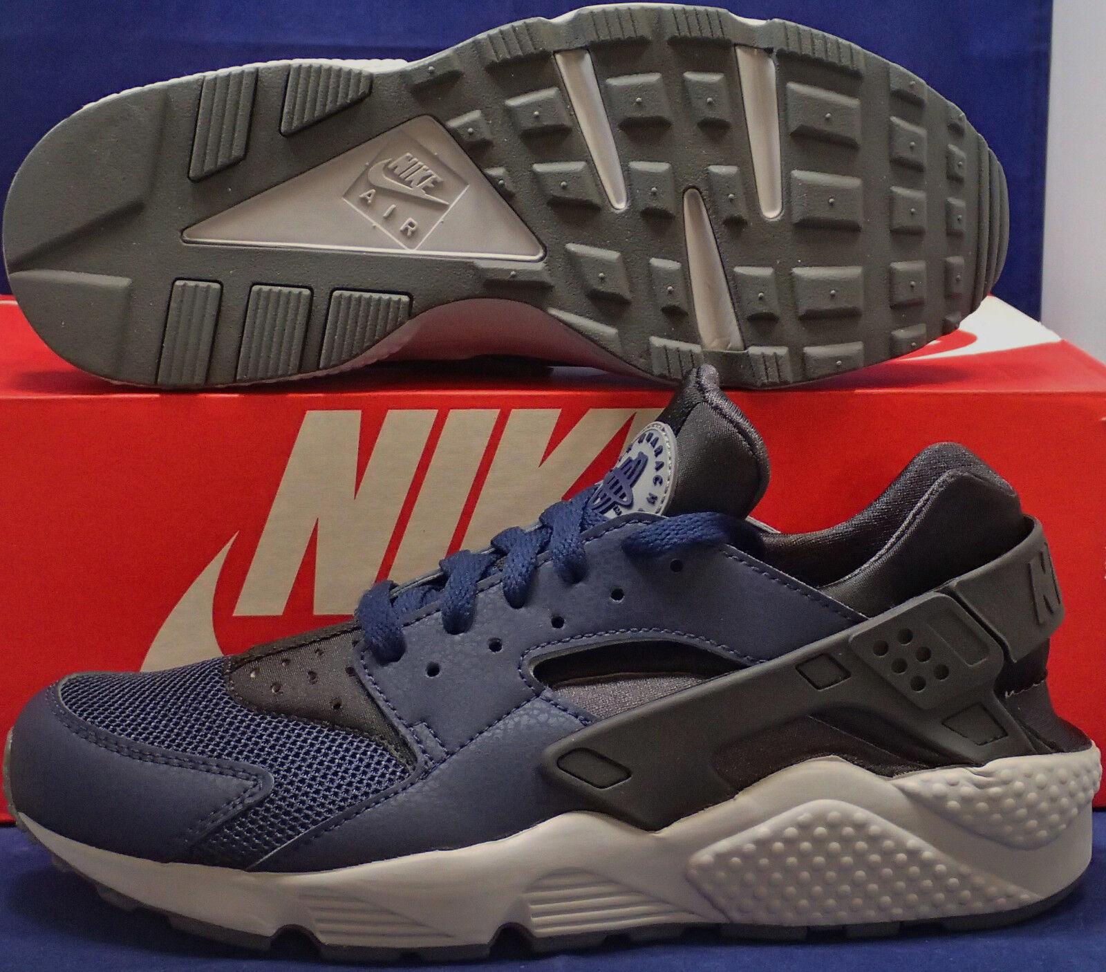 Nike Air Huarache Run Midnight Navy Dark Ash Cool Grey SZ 8.5 ( 318429-409 )
