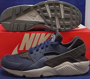 96ae88d86eaa8 Nike Air Huarache Run Midnight Navy Dark Ash Cool Grey SZ 8.5 ...