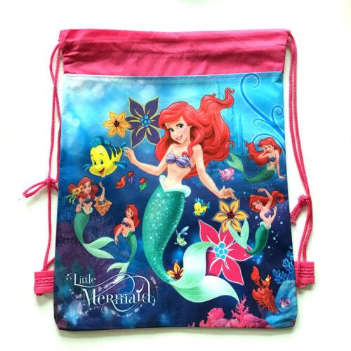 Little Mermaid Ariel Flounder PE Gym Sport Swimming Dancing Draw String Bag