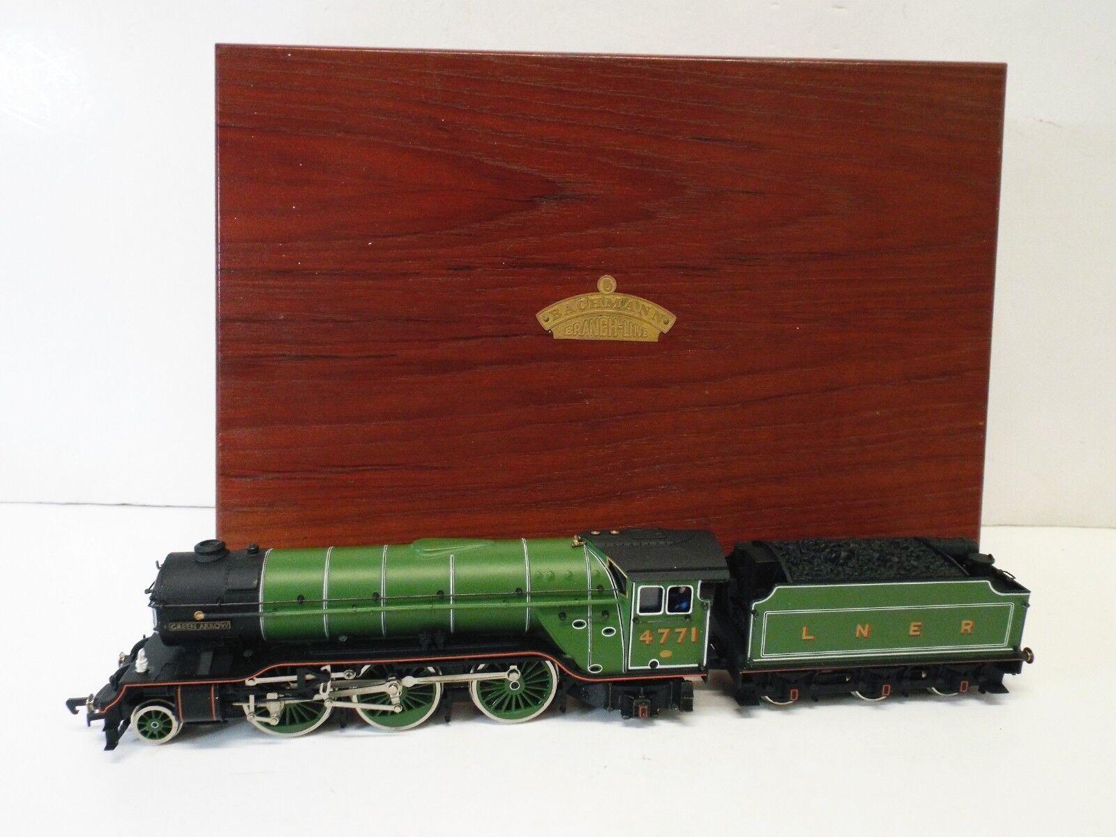 BACHMANN BRANSCHLINE grön AROW 4771 BEGRÄNSAD UTION I trä låda (OOS880)