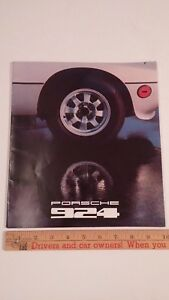 1978-PORSCHE-924-Color-Sales-Catalog-Very-Good-Condition-USA