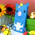 For Apple iPhone 5C Colorful Cute Pig Soft Rubber Silicone Skin Case Cover