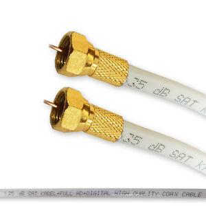 3 m Sat Anschlusskabel F-Stecker Kabel FullHD HDTV Sat kabel 135dB 3D NEU
