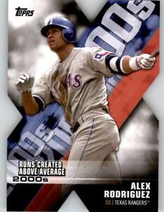 2020 Topps Series 1 ALEX RODRIGUEZ Decade of Dominance Die-Cut Rangers #DOD-13