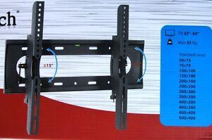 Staffa porta tv flat da parete vultech da 32 a 60 pollici 55kg vultech st3260 ebay - Porta televisore da parete ...