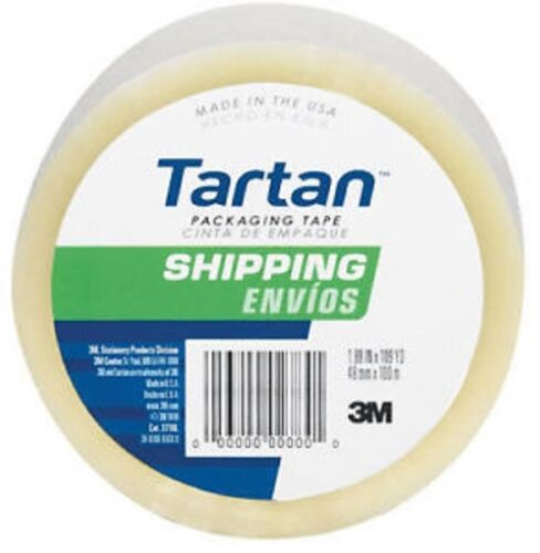 """36 ea 3M Tartan 3710-DC 1.88/"""" X 54.6 yd Clear Packing Packaging Shipping Tape"""