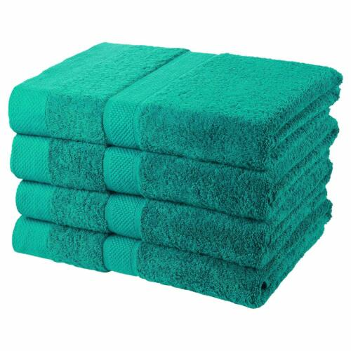 "Green 4-Piece Bath Towel Set 700GSM 30/"" x 56/"" 100/% Cotton Hand Towels"