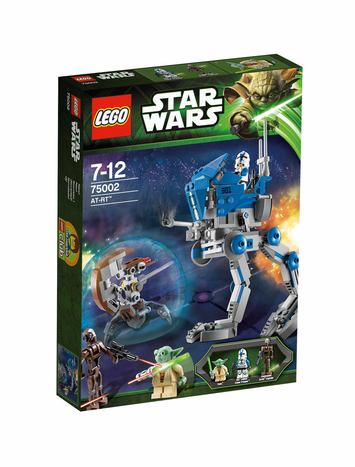 LEGO® 75002 Star Wars AT-RT Yoda 501st Clone Trooper Neu OVP New sealed