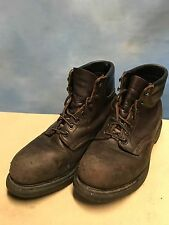 RED WING 2245 Brown Leather Steel Toe Biker Ankle Work Grunge Boots USA Mens 7ee