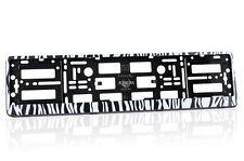 Fancy Number Plate Holder / Licence Plate Frame - Set of 2 - ZEBRA