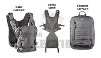 Mission Critical Front Baby Carrier & Daypack Carrier + Ext. Liner Gray Grey