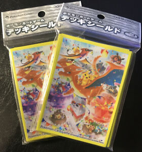 Pokemon-Center-Japan-Exclusive-Mega-Charizard-amp-Pikachu-Sleeves-Two-32-Count