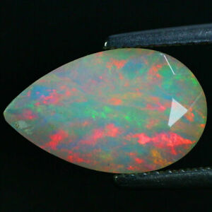 1-88-Carats-Natural-13x8-Rainbow-OPAL-Multi-Flashing-for-Jewelry-Setting-PEAR