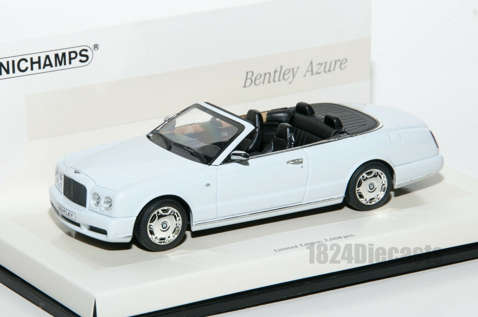 Bentley Azure, Minichamps Linea Bianco 436 139561 scale 1 43, car gift for him