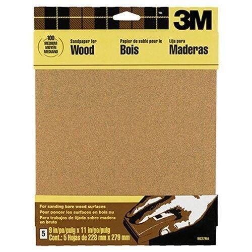 3M 9038NA Garnet Sandpaper 4-Sheet Course-Grit 9-Inch by 11-Inch