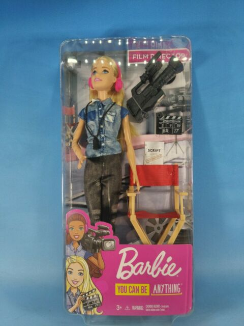 Barbie You Can Be Anything Film Director Doll and Accessories NEW IN BOX!