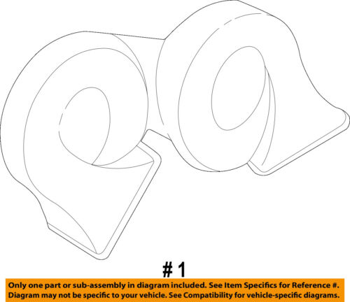 Cadillac GM OEM 05-11 STS-Horn 25789208