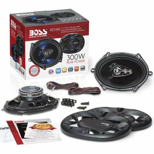 BOSS Audio Full Range Speakers 4 Way Car Speakers 300 Watt RMS 5x7 inch Pairs