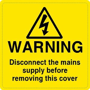 10 X Mains Supply Warning Safety Voltage Labels Signs Ebay