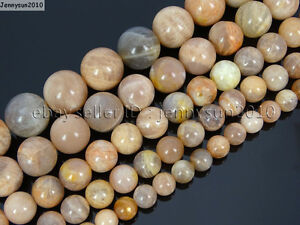Natural-Sunstone-Gemstone-Round-Beads-15-5-039-039-2mm-4mm-6mm-8mm-10mm-12mm-14mm-16mm