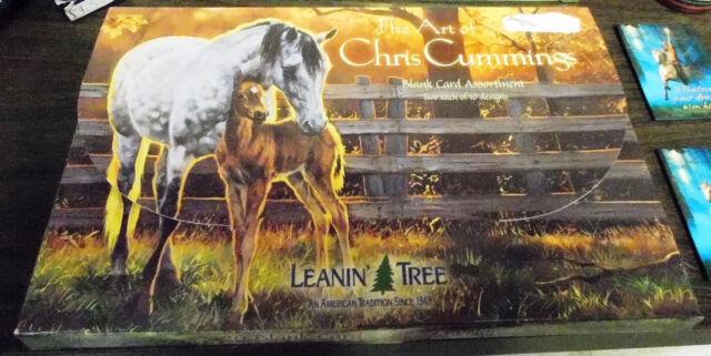 New Leanin' Tree The Art of Chris Cummings Blank Card Assortment Horse Designs