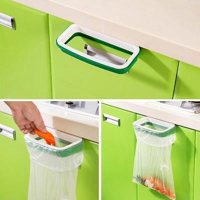 Hanging Kitchen Cupboard Cabinet Tailgate Stand Storage Garbage Bags Trash Rack