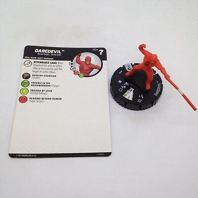 set Daredevil #004 Common figure w//card! Heroclix Marvel/'s What If