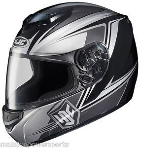 HJC CS-R2 Seca Motorcycle Helmet Black Gray M MD MED Medium Full Face
