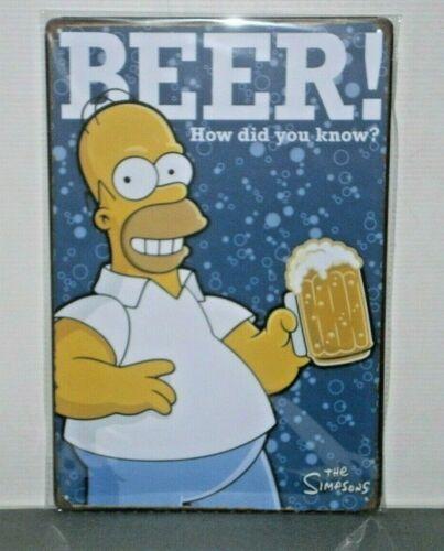 HSB1 HOMER SIMPSON Beer Metal Sign New 30 cm H X 20 cm W