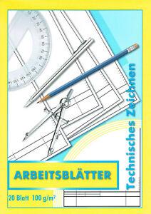 ZEICHENBLOCK / BLOCK - Technisches Zeichnen - A4 20 Bl TZ ...
