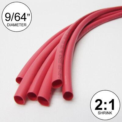 "6x9/"" = 4 ft inch//feet//to 3.5mm 9//64/"" ID Green Heat Shrink Tube 2:1 ratio wrap"