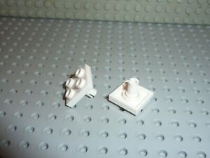 2-x-LEGO-White-Plate-with-Pin-ref-2476a-Set-10196-7752-6397-7675-7993-7676-3831