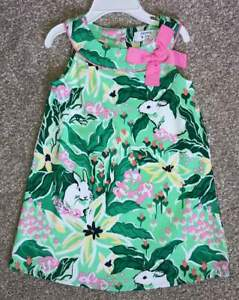 NWT-Crown-amp-Ivy-Kids-Toddler-Girl-Watercolor-Inspired-Dress-2T-Bunnies-Spring