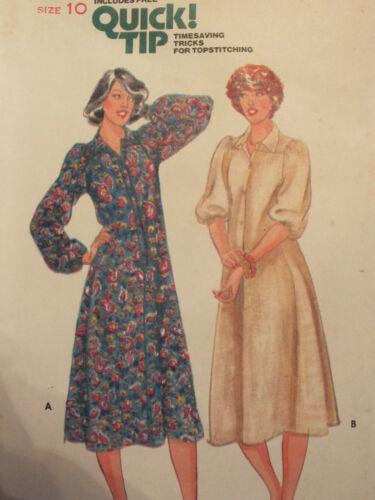 Lovely VTG 70s BUTTERICK 5971 Misses Fit /& Flared Dress PATTERN 8~10 UC