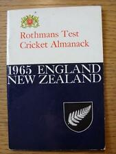 1965 Test Cricket: ROTHMANS Cricket ALMANACCO, INGHILTERRA V Nuova Zelanda (lievi MARKI
