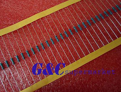 500PCS 220Ω 220 Ohm 1/4W 0.25W 1% accuracy Metal Film Resistors RoHS R-MF