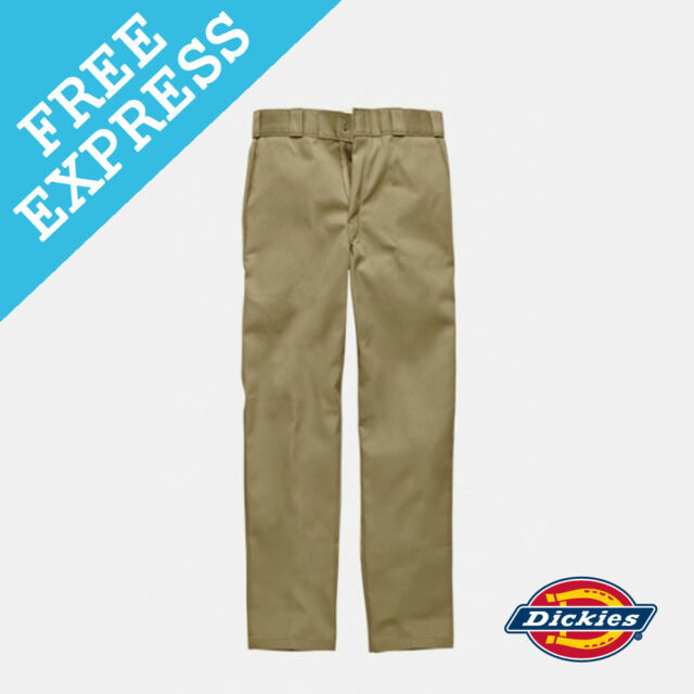 73439bb2389 Dickies Slim Straight 873 Work Pants - Khaki 32