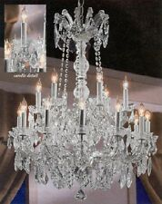 18 LIGHT GRAYISH SILVER MARIA THERESA CRYSTAL CHANDELIER KITCHEN OR DINING ROOM