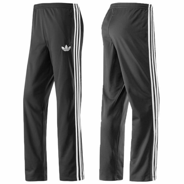 Editor cortina insalubre  Adidas Originals Adi Firebird Mens Tracksuit Full Jacket Top Bottoms Pants  Black for sale online