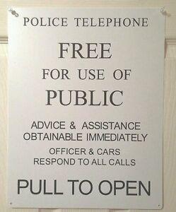 Doctor Who TARDIS front door sign