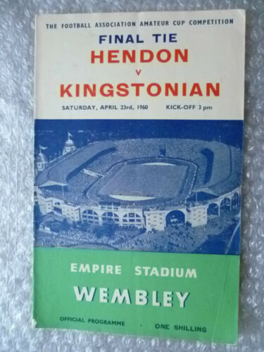 1960 FA Amateur Cup FINAL HENDON v KINGSTONIAN, 23rd April