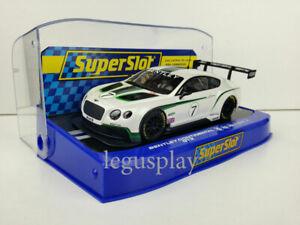 Slot-Scx-Scalextric-Superslot-H3514-Bentley-Continental-GT3-N-7-Neu