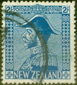 New-Zealand-1926-2s-Dp-Blue-SG466-Jones-Fine-Used