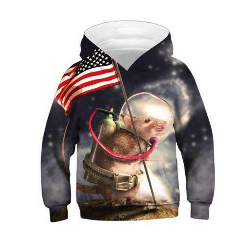 Christmas Kids Boys//Girls Coat Jacket 3D Sweatshirt Pullover Hoodie Jumper UK