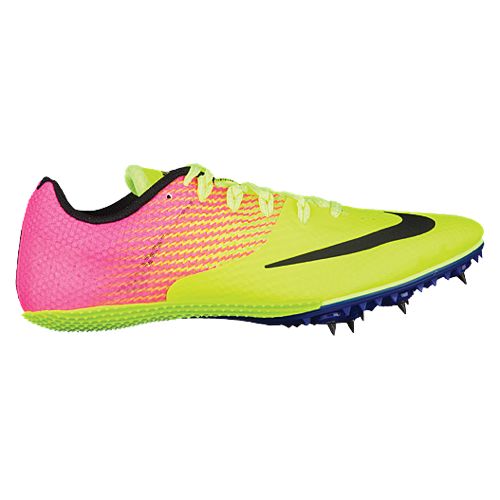 reputable site d6069 aa0f4 Nike Zoom Rival S 8 OC Sprint Track Spike Shoes Mens 806554-999 Volt Pink 11