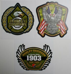 harley davidson motor cycle bike decal sticker HD truck car eagle flag USA camo