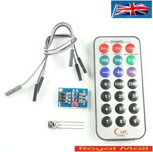 Details about HX1838 IR Remote Control Infrared Receiver Module DIY Kit for  Arduino #D24
