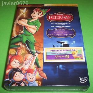 PETER-PAN-COLECCION-2-PELICULAS-DISNEY-EN-DVD-PACK-NUEVO-Y-PRECINTADO