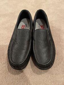 SAS Tripad Comfort US 9 1/2M Women Loafer Slip On Walking Shoe Black Leather